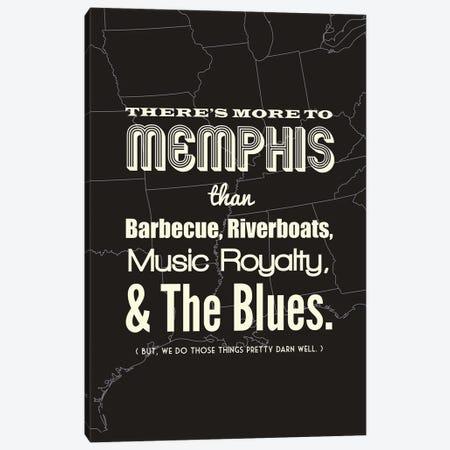 There's More To Memphis - Dark Canvas Print #BPP197} by Benton Park Prints Canvas Artwork