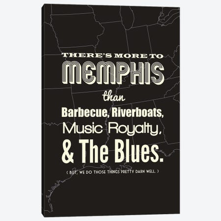 There's More To Memphis - Dark Canvas Print #BPP197} by Benton Park Prints Canvas Artwork