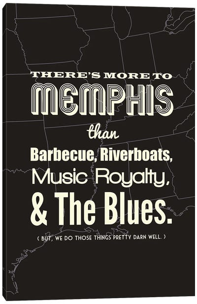 There's More To Memphis - Dark Canvas Art Print