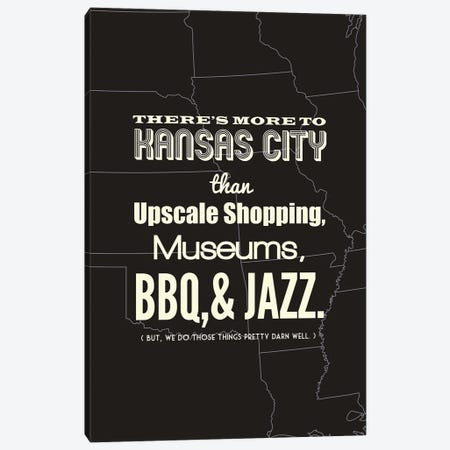 There's More To Kansas City - Dark Canvas Print #BPP198} by Benton Park Prints Canvas Art Print