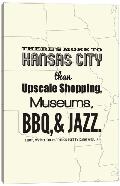 There's More To Kansas City - Light Canvas Art Print