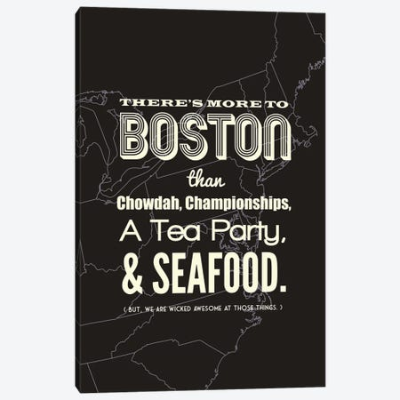 More to Boston - Dark Canvas Print #BPP201} by Benton Park Prints Canvas Art Print