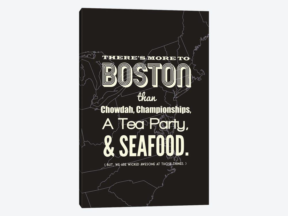 More to Boston - Dark by Benton Park Prints 1-piece Canvas Print