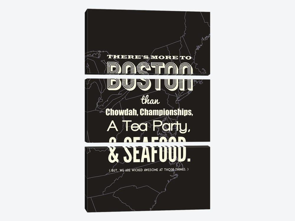 More to Boston - Dark by Benton Park Prints 3-piece Art Print
