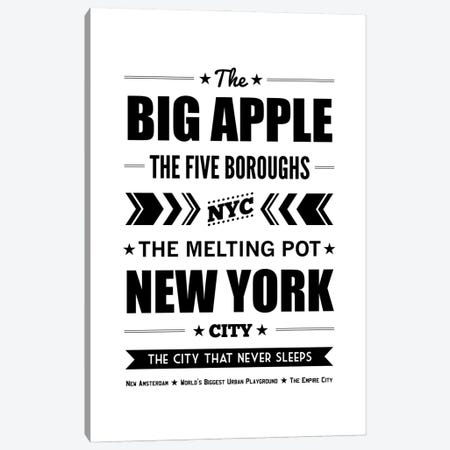 The Big Apple Canvas Print #BPP202} by Benton Park Prints Art Print