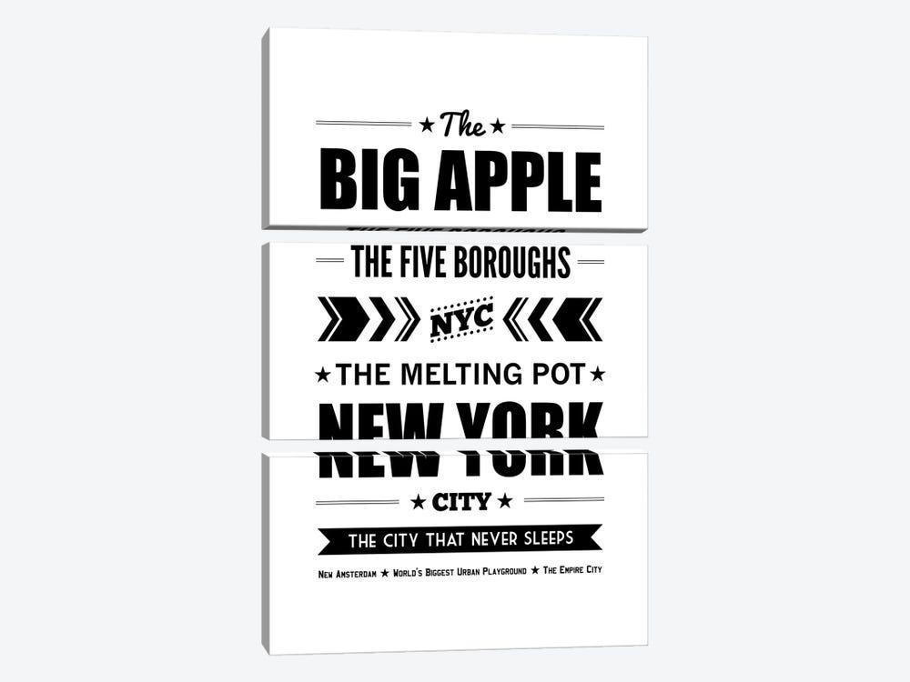 The Big Apple by Benton Park Prints 3-piece Canvas Artwork