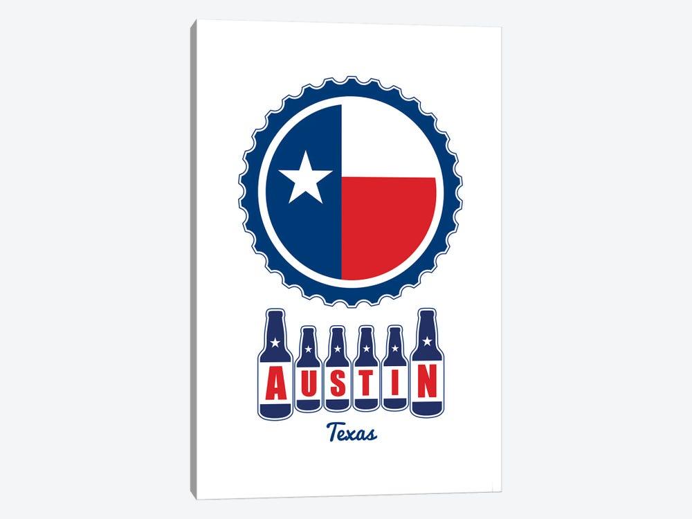 Austin Beer Cap Texas Flag by Benton Park Prints 1-piece Canvas Print