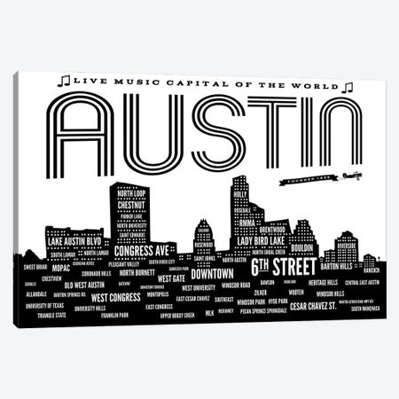 Austin Neighborhoods Canvas Print #BPP209} by Benton Park Prints Art Print