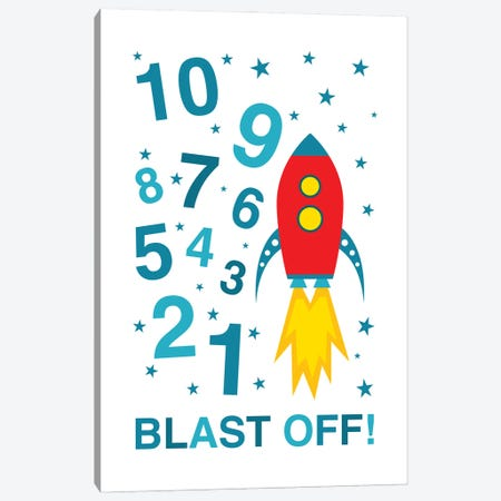 Blast Off Countdown Canvas Print #BPP211} by Benton Park Prints Canvas Artwork