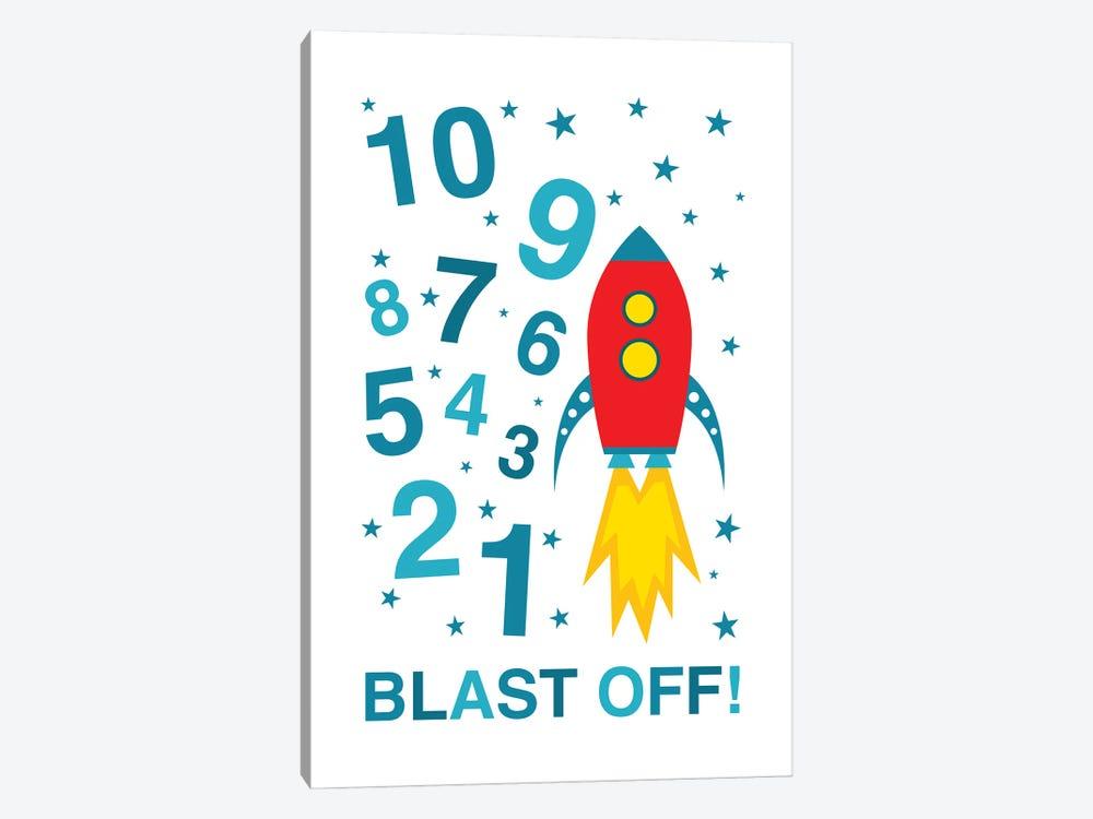 Blast Off Countdown by Benton Park Prints 1-piece Canvas Wall Art