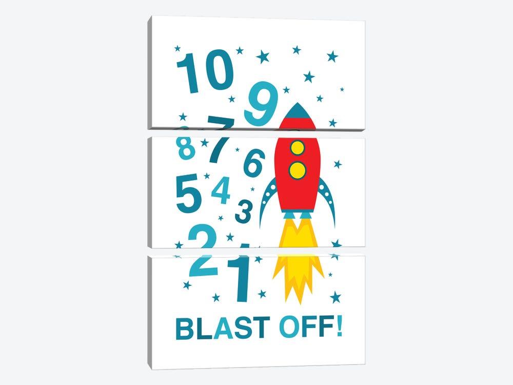 Blast Off Countdown by Benton Park Prints 3-piece Canvas Wall Art