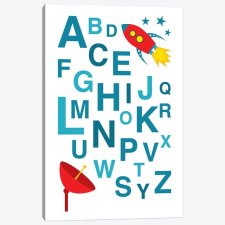 ABC Rocket Canvas Print #BPP212} by Benton Park Prints Canvas Artwork