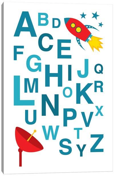 ABC Rocket Canvas Art Print