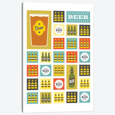 Beer Squares Canvas Print #BPP216} by Benton Park Prints Canvas Print