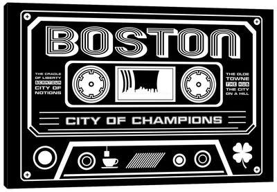 Boston Cassette - Dark Background Canvas Art Print