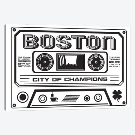 Boston Cassette - Light Background Canvas Print #BPP219} by Benton Park Prints Canvas Artwork