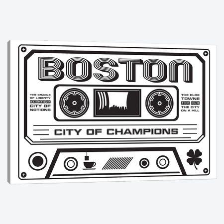 Boston Cassette - Light Background Canvas Print #BPP219} by Benton Park Prints Canvas Artwork