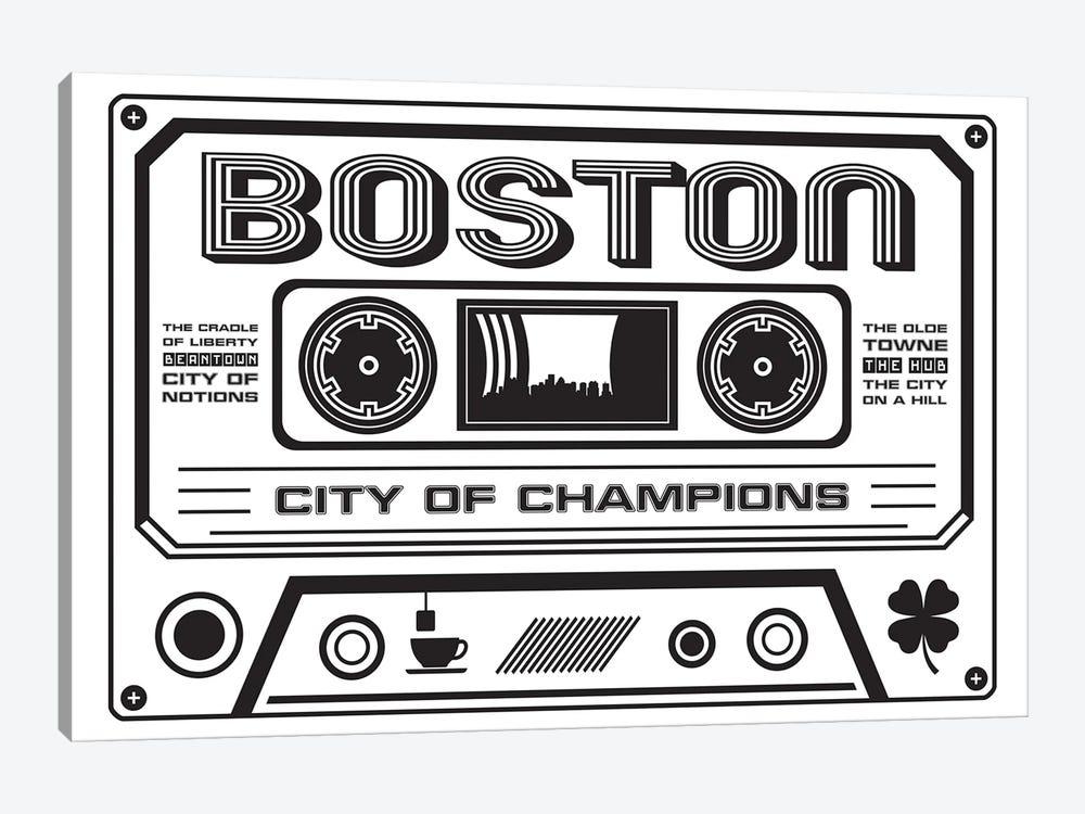 Boston Cassette - Light Background by Benton Park Prints 1-piece Canvas Artwork