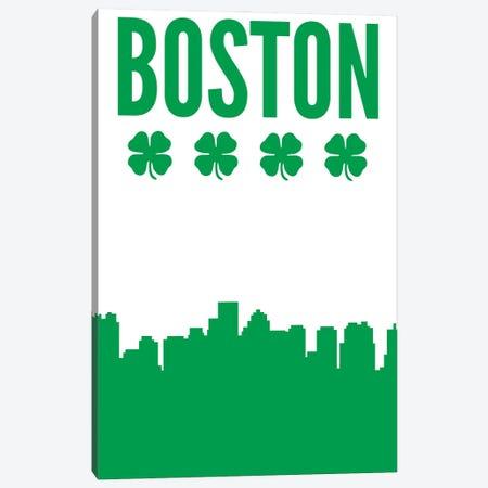 Boston Clover Skyline Canvas Print #BPP220} by Benton Park Prints Art Print