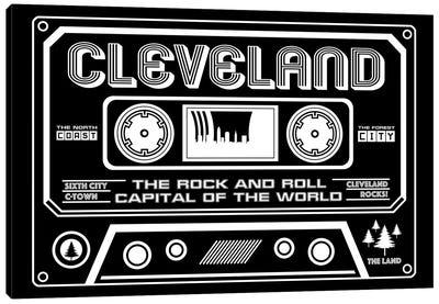 Cleveland Cassette - Dark Background Canvas Art Print