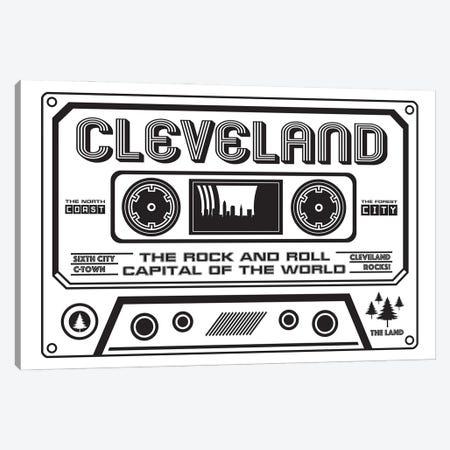 Cleveland Cassette - Light Background Canvas Print #BPP226} by Benton Park Prints Canvas Artwork