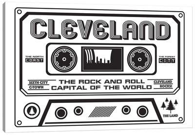 Cleveland Cassette - Light Background Canvas Art Print