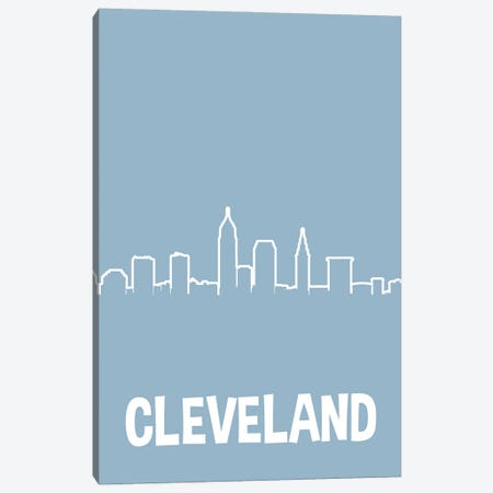 Cleveland Line Skyline 3-Piece Canvas #BPP227} by Benton Park Prints Canvas Wall Art