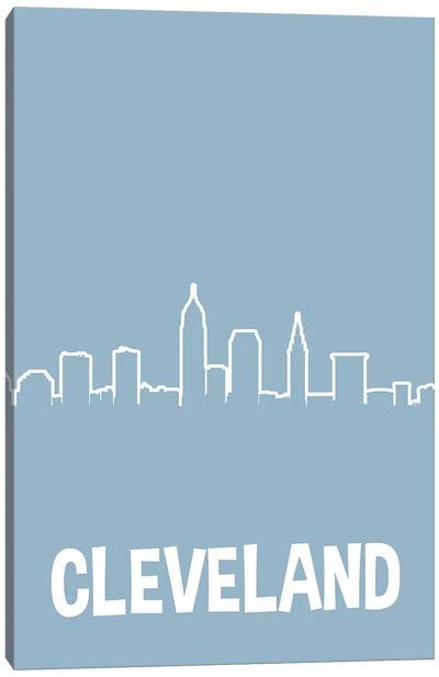 Cleveland Line Skyline Canvas Art Print