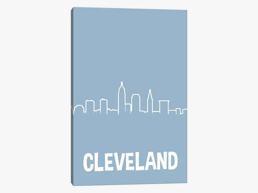 Cleveland Line Skyline by Benton Park Prints 1-piece Canvas Print