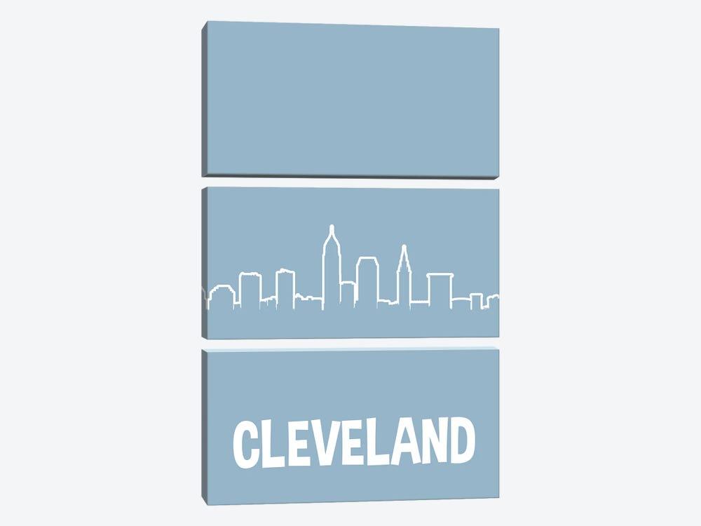 Cleveland Line Skyline by Benton Park Prints 3-piece Art Print