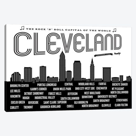Cleveland Neighborhoods Canvas Print #BPP228} by Benton Park Prints Art Print
