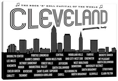 Cleveland Neighborhoods Canvas Art Print