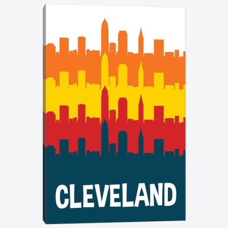 Cleveland Skylines Canvas Print #BPP229} by Benton Park Prints Canvas Print