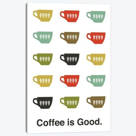 Coffee Is Good Canvas Print #BPP230} by Benton Park Prints Canvas Artwork