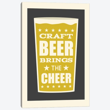 Craft Beer Brings The Cheer Canvas Print #BPP231} by Benton Park Prints Canvas Wall Art