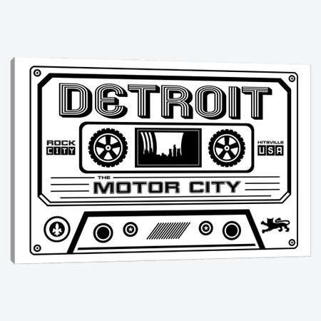 Detroit Cassette - Light Background Canvas Print #BPP237} by Benton Park Prints Art Print