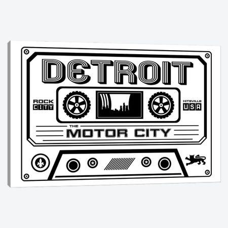 Detroit Cassette - Light Background Canvas Print #BPP237} by Benton Park Prints Art Print