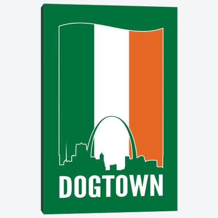 Dogtown St. Louis - Irish Flag Canvas Print #BPP238} by Benton Park Prints Canvas Wall Art
