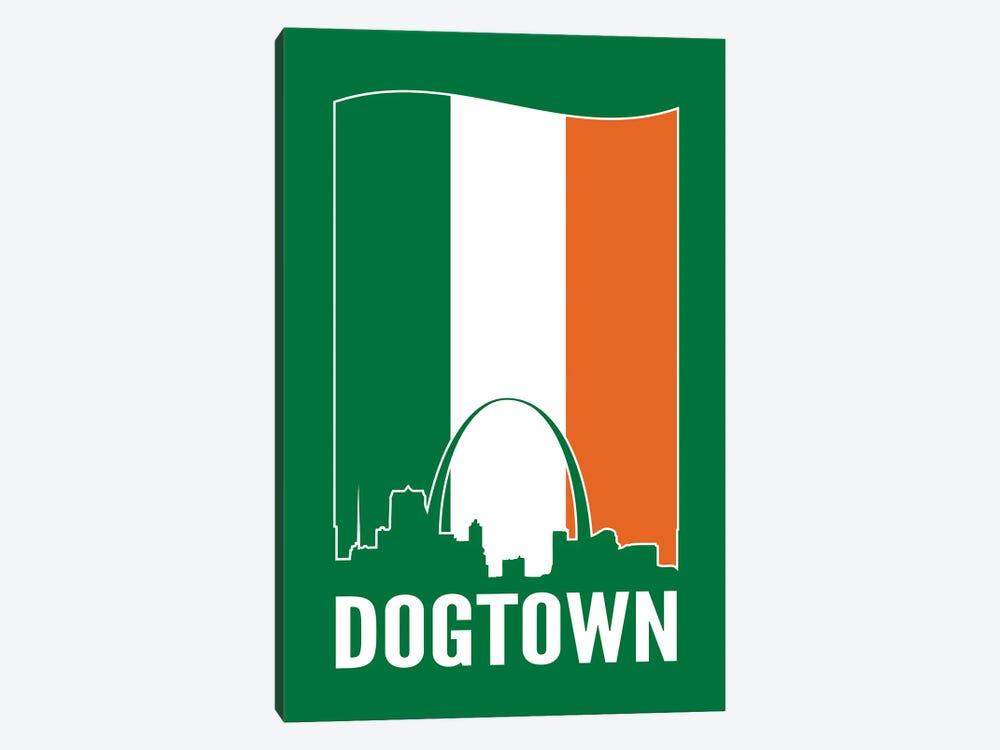 Dogtown St. Louis - Irish Flag by Benton Park Prints 1-piece Canvas Art Print