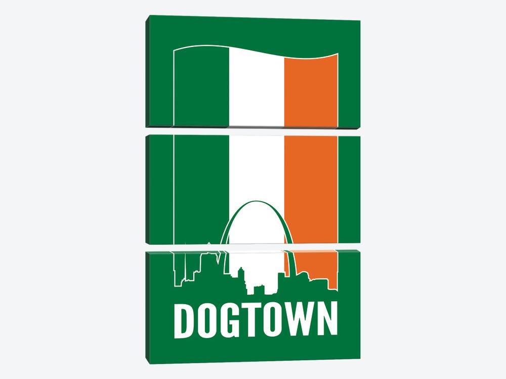 Dogtown St. Louis - Irish Flag by Benton Park Prints 3-piece Canvas Print