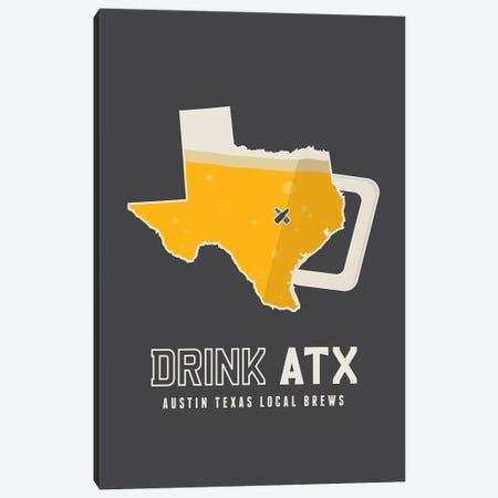 Drink ATX - Austin Beer Print Canvas Print #BPP239} by Benton Park Prints Canvas Wall Art