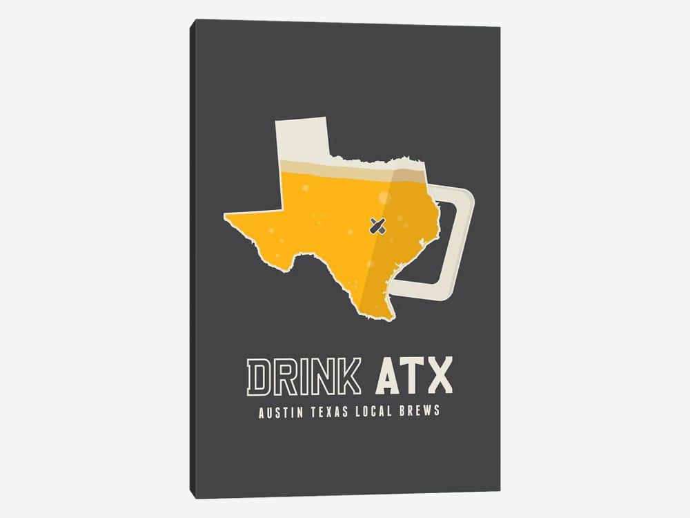 Drink ATX - Austin Beer Print by Benton Park Prints 1-piece Canvas Art