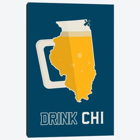Drink CHI - Chicago Beer Print Canvas Print #BPP241} by Benton Park Prints Canvas Art Print