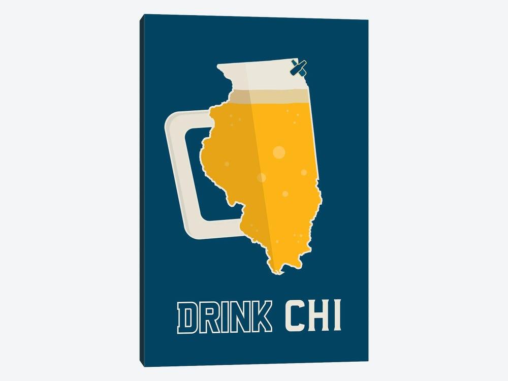 Drink CHI - Chicago Beer Print by Benton Park Prints 1-piece Canvas Art Print
