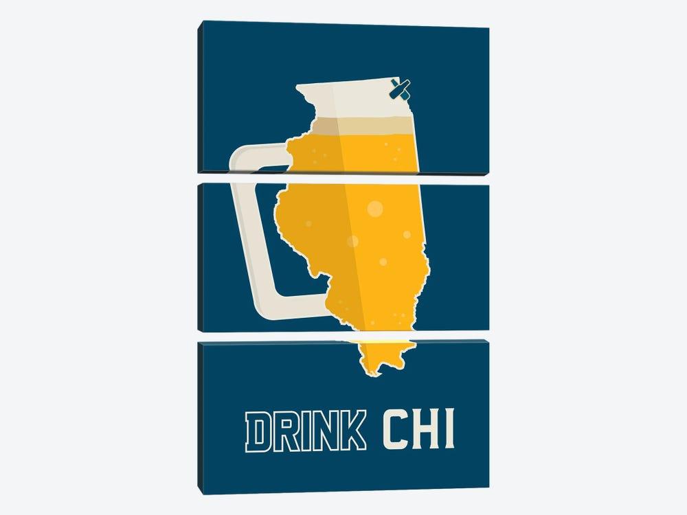 Drink CHI - Chicago Beer Print by Benton Park Prints 3-piece Art Print