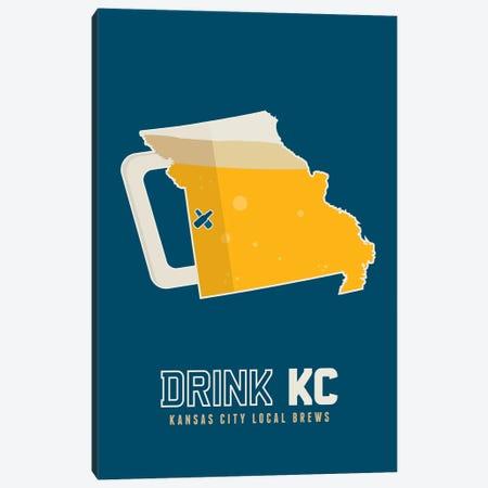Drink KC - Kansas City Beer Print Canvas Print #BPP242} by Benton Park Prints Canvas Print