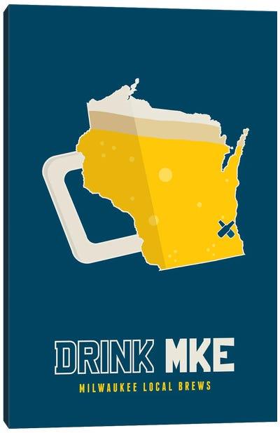 Drink MKE - Milwaukee Beer Print Canvas Art Print