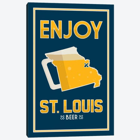 Enjoy St. Louis Beer Canvas Print #BPP244} by Benton Park Prints Canvas Wall Art