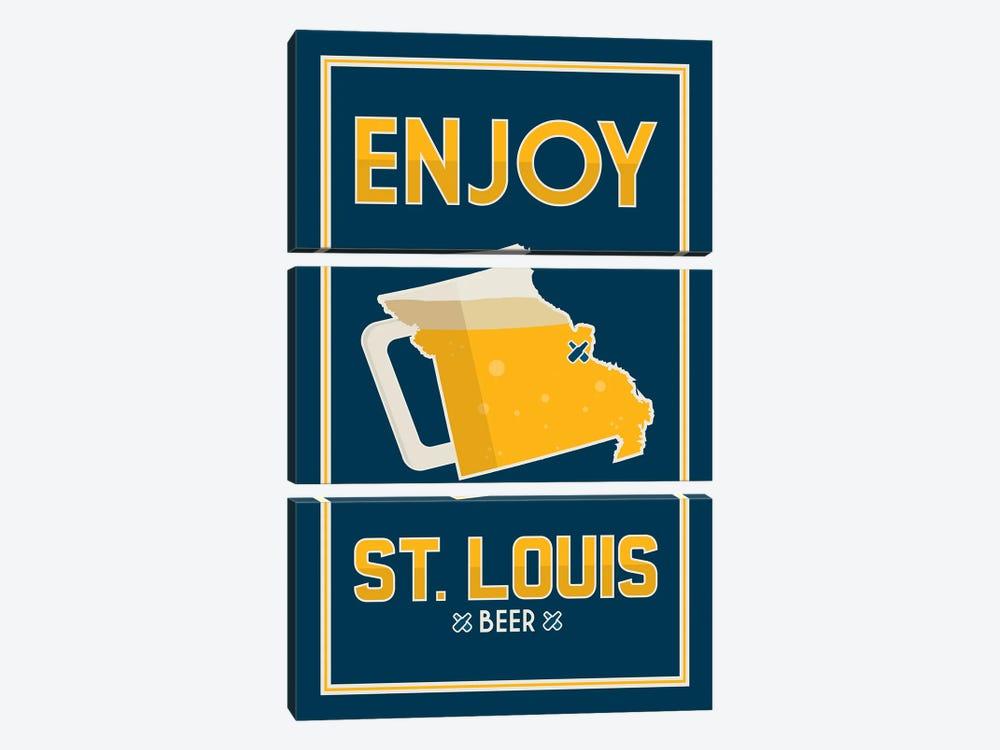 Enjoy St. Louis Beer by Benton Park Prints 3-piece Canvas Artwork