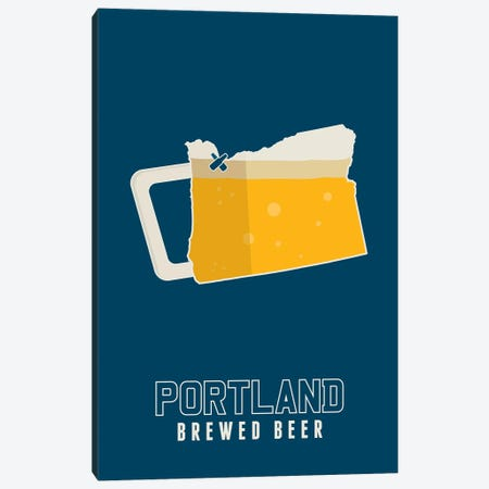 Portland Brewed Beer Canvas Print #BPP245} by Benton Park Prints Canvas Art